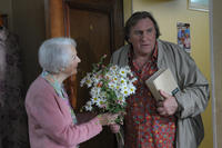 Gisele Casadesus as Margueritte and Gerard Depardieu as Germain Chazes in ``My Afternoons with Margueritte.''