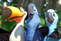 Rafael, Blu and Jewel in ``Rio.''