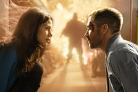 Michelle Monaghan as Christina and Jake Gyllenhaal as Colter Stevens in ``Source Code.''