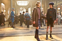 Chloe Moretz as Isabelle and Asa Butterfield as Hugo Cabret in