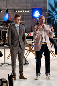 Justin Timberlake as Dylan and Woody Harrelson as Tommy in ``Friends with Benefits.''