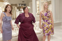 Ellie Kemper as Becca, Melissa McCarthy as Megan and Wendi McLendon-Covey as Rita in ``Bridesmaids.''