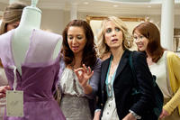 Maya Rudolph as Lillian, Kristen Wiig as Annie and Ellie Kemper as Becca in ``Bridesmaids.''