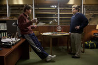 Brad Pitt as Billy Beane and Jonah Hill as Peter Brand in ``Moneyball.''