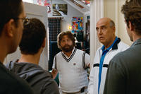 Ed Helms as Stu, Justin Bartha as Doug, Zach Galifianakis as Alan, Jeffrey Tambor as Sid Garner and Bradley Cooper as Phil in ``The Hangover Part II.''