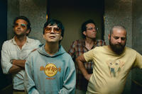 Bradley Cooper as Phil, Ken Jeong as Mr. Chow, Ed Helms as Stu and Zach Galifianakis as Alan in ``The Hangover Part II.''