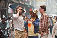 Bradley Cooper as Phil, Zach Galifianakis as Alan and Ed Helms as Stu in ``The Hangover Part II.''