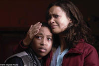 Jacob Latimore as James and Thandie Newton as Rosemary in ``Vanishing on 7th Street.''