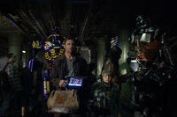 Hugh Jackman as Charlie Kenton and Dakota Goyo as Max in ``Real Steel.''