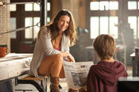 Evangeline Lilly as Bailey Tallet and Dakota Goyo as Max in ``Real Steel.''