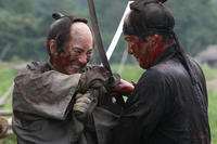 Masachika Ichimura as Hanbei Kitou and Koji Yakusho as Shinzaemon Shimada in ``13 Assassins.''