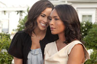 Paula Patton as Sabrina Watson and Angela Bassett in ``Jumping the Broom.''