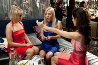 Ari Graynor as Daisy Darling, Anna Faris as Ally Darling and Kate Simses as Katie in ``What's Your Number?.''