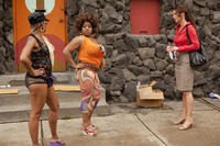 Ryan Michelle Bathe as Jackie, Sherri Shepherd as Lula and Katherine Heigl as Stephanie Plum in ``One for the Money.''