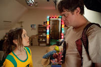 Ellen Page as Libby and Rainn Wilson as Frank D'Arbo in ``Super.''