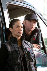 Paula Patton as Jane Carter and Simon Pegg as Benji Dunn in ``Mission Impossible -- Ghost Protocol.''