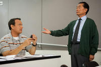 Tom Hanks as Larry Crowne and George Takei as Dr. Matsutani in ``Larry Crowne.''