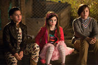 Kevin Hernandez as Rodrigo, Landry Bender as Blithe and Max Records as Slater in ``The Sitter.''