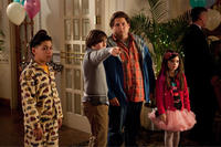 Kevin Hernandez as Rodrigo, Max Records as Slater, Jonah Hill as Noah and Landry Bender as Blithe in ``The Sitter.''