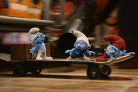 Brainy Smurf, Gusty Smurf and Papa Smurf in ``The Smurfs.''