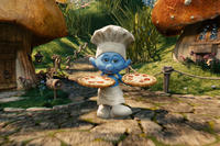 Grouchy Smurf in ``The Smurfs.''
