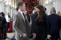 Neil Patrick Harris as Patrick Winslow and Sofia Vergara as Odile in ``The Smurfs.''