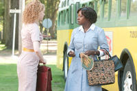 Emma Stone as Skeeter Phelan and Viola Davis as Aibileen Clark in