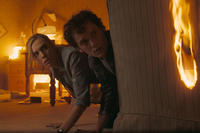 Toni Collette as Jane Brewster and Anton Yelchin as Charley Brewster in ``Fright Night.''