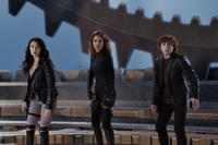 Alexa Vega as Carmen Cortez,  Jessica Alba as Marissa Cortez Wilson and Daryl Sabara as Juni Cortez in``Spy Kids: All the Time in the World.''