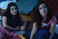 Nikita Ramsey as Ady Abbey and Jade Ramsey as Anna Abbey in ``The Myth of the American Sleepover.''