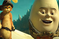 Puss in Boots and Humpty Dumpty in ``Puss in Boots.''