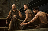 Stephen Dorff as Stavros and Henry Cavill as Theseus in ``Immortals.''
