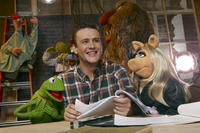 Kermit the Frog, Jason Segel and Miss Piggy in ``The Muppets.''