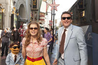 Walter, Jason Segel as Gary and Amy Adams as Mary in ``The Muppets.''