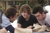Michael Angarano as Travis, Kyle Gallner as Jarod and Nicholas Braun as Billy-Ray in ``Red State.''