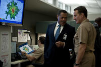 Laurence Fishburne as Dr. Ellis Cheever and Bryan Cranston as Lyle Haggerty in ``Contagion.''