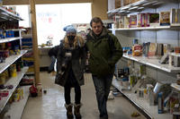 Anna Jacoby-Heron as Jory Emhoff and Matt Damon as Mitch Emhoff in ``Contagion.''