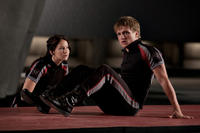 Jennifer Lawrence as Katniss Everdeen and Josh Hutcherson as Peeta Mellark in ``The Hunger Games.''