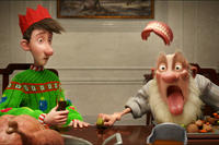 Arthur and Grandsanta in ``Arthur Christmas.''