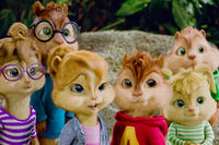 Jeanette, Simon, Brittany, Alvin, Eleanor and Theodore in ``Alvin and the Chipmunks: Chipwrecked!.''