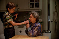 Thomas Horn as Oskar Schell and Zoe Caldwell as Oskar's Grandmother in ``Extremely Loud & Incredibly Close.''