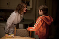 Sandra Bullock as Linda Schell and Thomas Horn as Oskar Schell in ``Extremely Loud & Incredibly Close.''