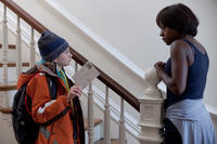 Thomas Horn as Oskar Schell and Viola Davis as Abby Black in ``Extremely Loud & Incredibly Close.''