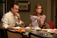 Tom Hanks as Thomas Schell and Sandra Bullock as Linda Schell in ``Extremely Loud & Incredibly Close.''