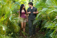 Vanessa Hudgens as Kailani and Josh Hutcherson as Sean in ``Journey 2: The Mysterious Island.''