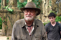 Michael Caine as Alexander and Josh Hutcherson as Sean in ``Journey 2: The Mysterious Island.''