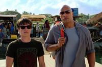 Josh Hutcherson as Sean and Dwayne Johnson as Hank in ``Journey 2: The Mysterious Island.''