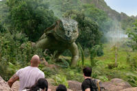 Dwayne Johnson as Hank, Vanessa Hudges as Kailani, Luis Guzman as Gabato and Josh Hutcherson as Sean in ``Journey 2: The Mysterious Island.''