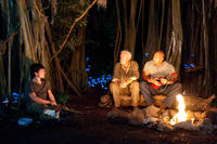 Josh Hutcherson as Sean, Michael Caine as Alexander and Dwayne Johnson as Hank in ``Journey 2: The Mysterious Island.''