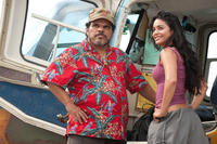 Luis Guzman as Gabato and Vanessa Hudgens as Kailani in ``Journey 2: The Mysterious Island.''